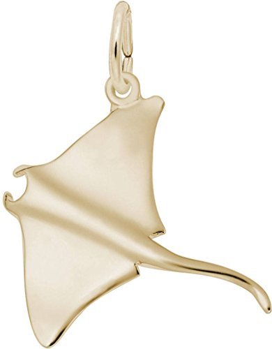 (Rembrandt Small Manta Ray Charm - Metal - 14K Yellow Gold)