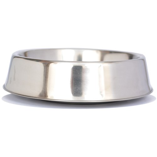 Iconic Pet 8 oz / 1 Cup Anti Ant Stainless Steel Non Skid Pet Food/Water Bowl - Noise Free Ant Resistant Dog/Cat Feeding Bowl with Unique Design and Rubber Base Makes it an Elegant Ant Proof Dish