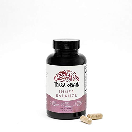 Terra Origin, Healthy Inner Balance Stress Relief Supplement, Capsules, 30 Servings, with Rhodiola Extract, Astragalus Root, Holy Basil and KSM-66 Organic Ashwagandha For Sale