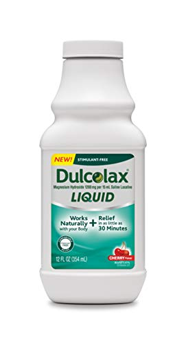 Dulcolax Liquid Laxative, Cherry, 12 - Dulcolax Laxative