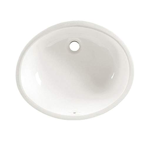 American Standard 0497.221.020 Ovalyn 19-Inch Basin Undercounter Sink with Front Overflow, White