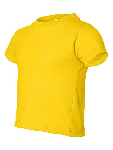 (Rabbit Skins boys 5.5 oz. Jersey Short-Sleeve T-Shirt(RS3301)-YELLOW-2T)