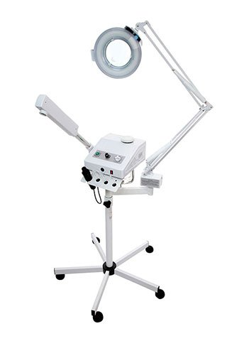 Ozone Steamer with 5 Diopter Magnifying Lamp & High Frequency by Top Spa