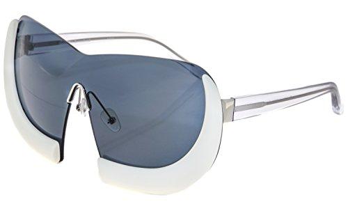 LINDA FARROW Walter Van Beirendonck 6 Black Crystal Horn Sunglasses - Vans Sunglasses Mens