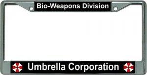 Umbrella Corporation Bio Weapons Chrome License Plate - Umbrella Plate License