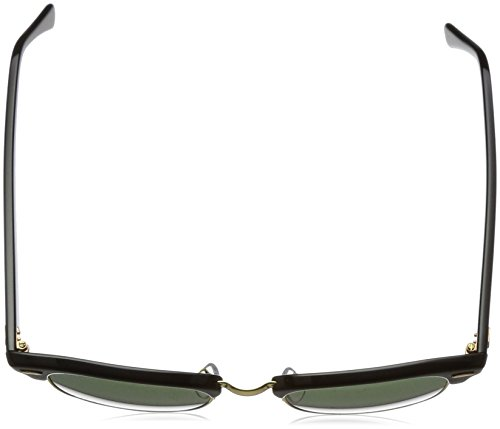 Ray-Ban RB3016 Classic Clubmaster Sunglasses Ebony/Arista Frame/Crystal Green Lens