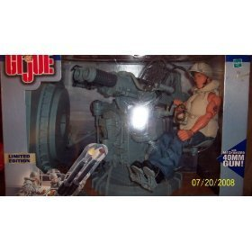 1:6 Scale GI Joe WWII Navy Twin Mount Anti-Aircraft Gun with Navy Action Sailor Gunner 12