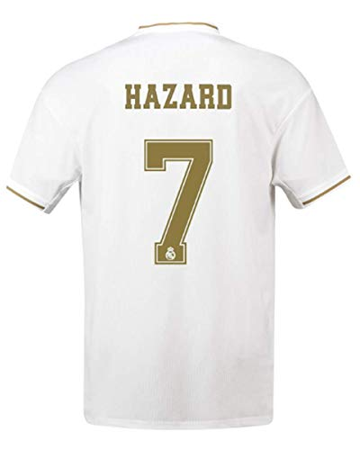 Real Madrid Hazard # 7 Soccer Jersey 2019-2020 Home Mens Jersey White(S-XXL) (S)