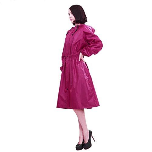Casual B Plein Raincoat Dame Section Coupe Trench Imperméable En Capuche Mode Côté Battercake À Air Long Femmes vent Poches Voyage HC4vwxExq