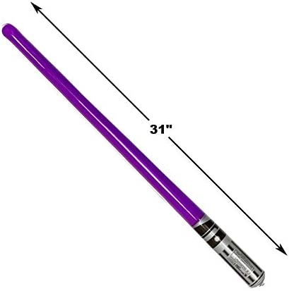 Pack Of 10 Inflatable Light Saber Sword Toys - 2 Red, 2 Blue, 2 Green, 2 Purple, 2 Yellow Lightsabers - Pool, Beach, Party Favors, Larp, Halloween Costume, Give Away, Christmas Stocking Stuffer
