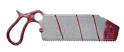 Fun World Fake Bloody Surgical Bone Saw Plastic Prop Halloween Doctor Accessory Faux -