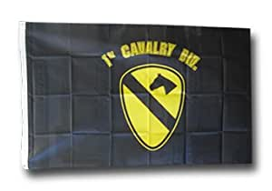 First Cavalry (black) - 3' x 5' Polyester Military Flag