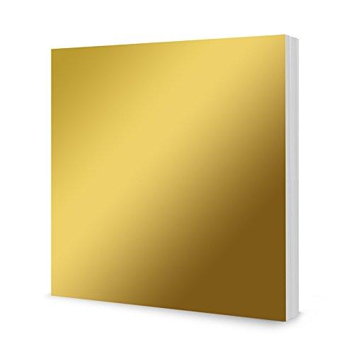 Hunkydory Mirri Matts 50 Mirri Sheets in Gold 8x8 Mirror Board MCDM114
