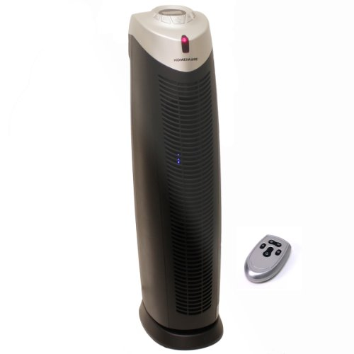 (HOMEIMAGE TRUE HEPA AIR PURIFIER with UV Light & IONIZER 29-Inch, HI-9020 (Remote control included))