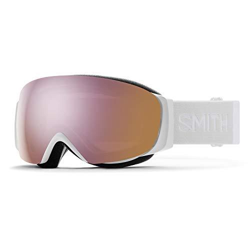Smith I/O MAG S Snow Goggle - White Vapor '21 | Chromapop Everyday Rose Gold Mirror + Extra Lens