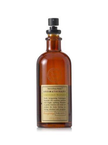 Bath & Body Works Aromatherapy LEMONGRASS MANDARIN 4.0 oz/118 ML Energizing Body Essence (Energizing Essence)