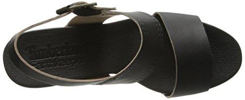 Timberland Earthkeepers de la mujer Tilden double-strap Sandal Negro (Black Dry Gulch)