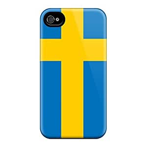 CADike Scratch-free Phone Case For Iphone 4/4s- Retail Packaging - Sweden Flag hjbrhga1544