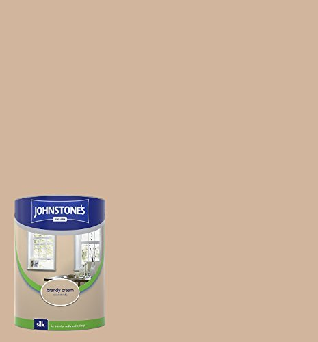 - Johnstone's 306606 Vinyl Silk Emulsion - Brandy Cream,5 by Johnstone's