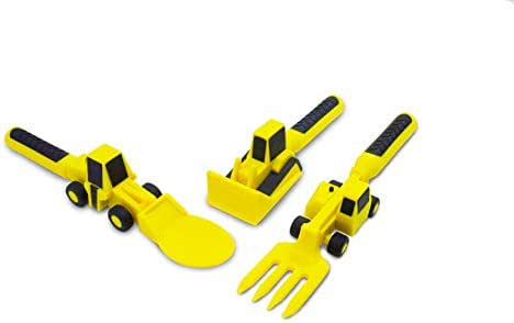 Constructive Eating Set of Construction Utensils for Toddlers, Infants, Babies and Kids - Flatware Toys are Made with FDA Approved Materials for Safe and Fun Eating
