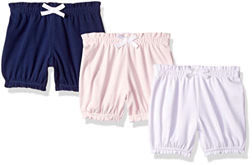 - Amazon Essentials Baby Girls 3-Pack Bloomer, Pink/Grey Solid, 3-6M