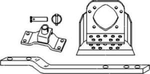 New Swinging Drawbar Kit 49A34R Fits MF TO20, TO30, 35