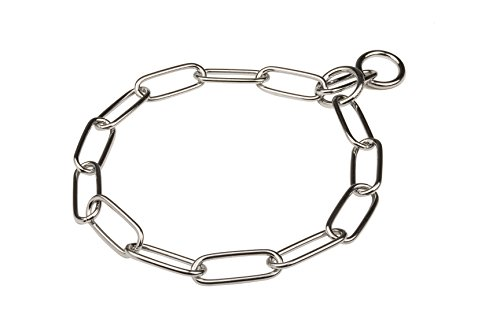 Herm Sprenger Chrome Plated Steel Fur Saver Collar - 1/6 inch (4 mm) link diameter - Size 26 inch (67 cm) for Dogs with Neck Size of 23-24 inch (58-60 cm)