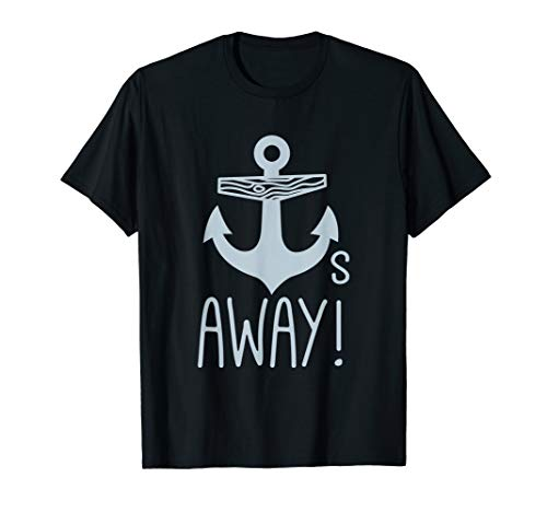 (Cool Anchors Away Vintage Graphic T-Shirt (Dark) )