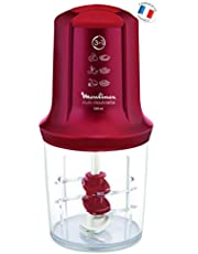 Moulinex Multimoulinette - Picadora, 3 cuchillas, 500 W, 0.5 L, acero inoxidable/plástico, color rojo rubí