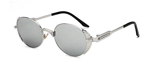 rond inspirées retro style du lunettes métallique Lennon de cercle Mercure soleil en polarisées Comprimés vintage de Ytxa47