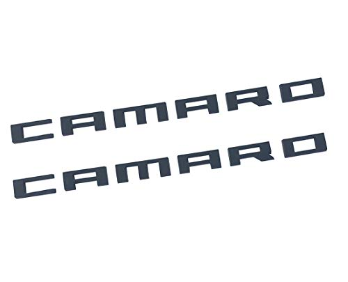 Camaro Nameplate - Yuauto Camaro Letter Emblem, 3D Badge Replacement for Chevrolet Camaro 2010 2011 2012 2013 2014 2015 Fender Emblems Nameplate Letters Insignia Fifth Generation (2Pc black)
