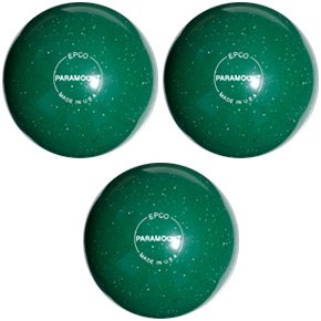 EPCO-Duckpin-Bowling-Ball-Speckled-Houseball-Green-Balls-3-Balls