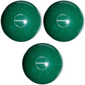 EPCO Duckpin Bowling ball- Speckled Houseball – グリーンBalls – 3 Balls B00H6VZ4J8  4 7/8 inch- 3lbs. 10 oz.