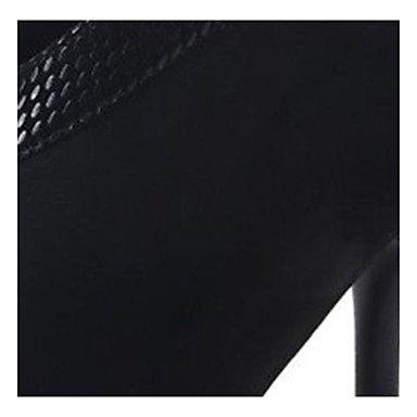 cms de Ante Negro cn39 Stiletto Botas us8 uk6 Cremallera Mujer Botas 9'5 eu39 DESY Otoño Vestido Tacón Combate 7'5 14tn6qPxwY