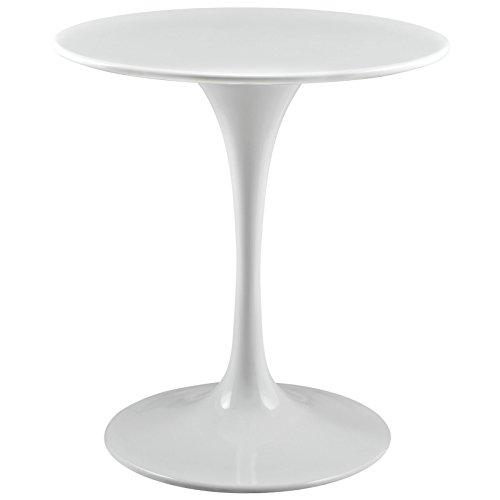 "Modway EEI-1115-WHI Lippa Mid-Century Modern 28"" Round Dining Table, White Base"