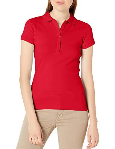 IZOD Junior's Uniform Short Sleeve Interlock Polo, Red, Small