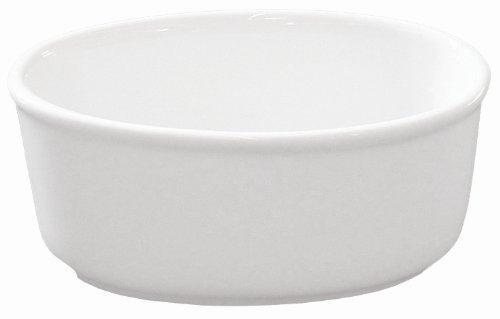(Bia Cordon Bleu Individual White Porcelain 8-Ounce Oval Baker, Set of 4)