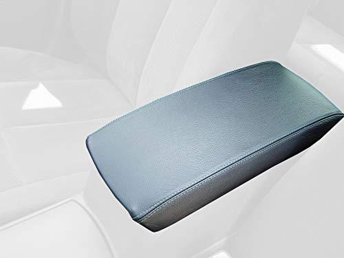 RedlineGoods armrest Cover Compatible with Nissan Altima 2007-12. Black Leather-Black Thread