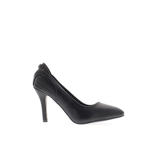 Scarpe nere con cuciture tagliente di 9cm tacchi sottili