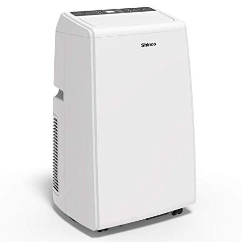Shinco SPS5 14000 BTU Portable Air Conditioner Unit + 11000 BTU Heater, Cool Fan, Quiet Dehumidifier, LED Display, Remote Control, Complete Window Mount Exhaust Kit for Rooms Up to 500 Sq. ft