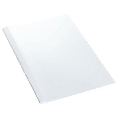 Leitz 177151 - Cartellina per rilegatura termica con copertina lucida trasparente, formato A4, dorso di 3 mm, 25 pezzi, colore bianco Esselte Leitz
