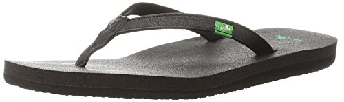 Sanuk Women's Yoga Joy Flip Flop,Black,9 M US from Sanuk
