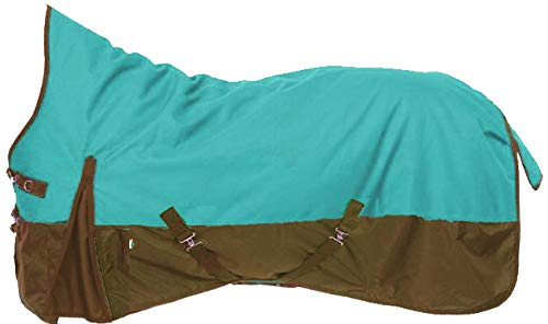 - Tough-1 Premium 1200 Denier Waterproof High Neck Turnout Blanket - 300 Grams Fill