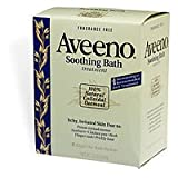 Aveeno Soothing Bath Treatment Aveeno Fragrance Free Soothing Bath Treatment, 8-Count Boxes (Pack of 3)