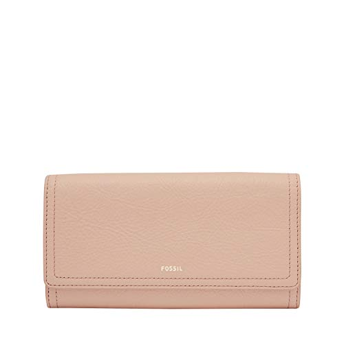 Fossil Women's Logan RFID-Blocking Leather Flap Clutch Wallet 1