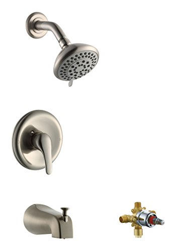 Design House 545764 Middleton Tub Shower Faucet, Satin Nickel, Includes Complete Installation Kit with Valve by Design House