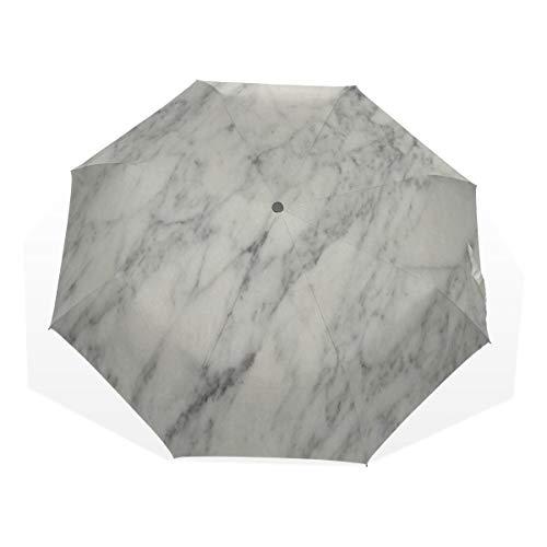 Umbrella White Marble Golf Sun Rain Windproof umbrellas with UV Protection for Womens Mens Kids Girls Boys (Island Umbrella Sleeve Bbq)