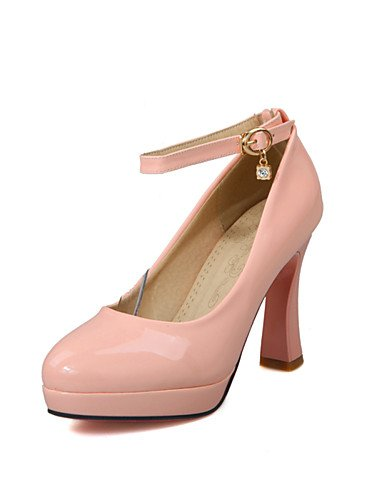 talones cn43 zapatos de pink oficina mujer YHUJI 5 dedo rosa grueso de del GGX ronda 8 cn42 5 amp; talón la del eu41 10 uk7 pie ocasional us10 us9 5 nbsp;carrera 5 cn43 5 black blanco uk8 charol uk8 negro pink eu42 talones 5 eu42 us10 w0Pq750C
