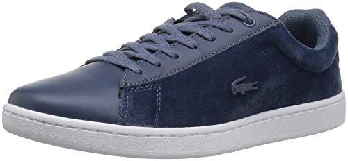 Lacoste Women's Carnaby Evo Sneaker, Dark Blue/White Textile
