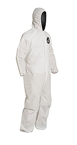 DuPont ProShield 10 PB127S Disposable Protective Coverall with Standard Fit Hood, Elastic Cuff and Ankles, White, 2X-Large (Pack of 25) by DuPont (Image #2)